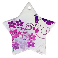 Floral Garden Star Ornament (two Sides)