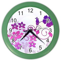 Floral Garden Wall Clock (Color)