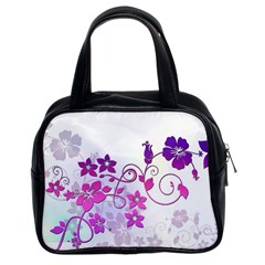 Floral Garden Classic Handbag (two Sides)