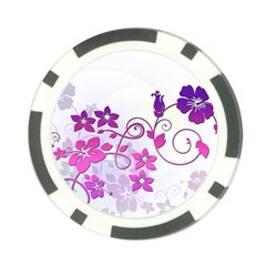 Floral Garden Poker Chip (10 Pack)