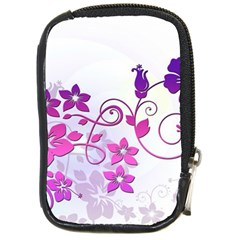 Floral Garden Compact Camera Leather Case