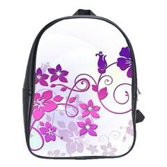 Floral Garden School Bag (Large)