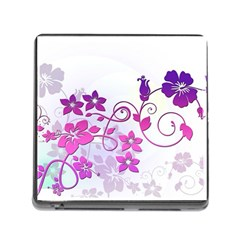 Floral Garden Memory Card Reader With Storage (square)
