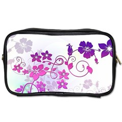 Floral Garden Travel Toiletry Bag (one Side)