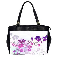 Floral Garden Oversize Office Handbag (two Sides)