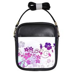Floral Garden Girl s Sling Bag