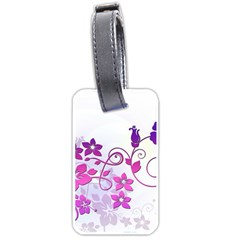 Floral Garden Luggage Tag (One Side)