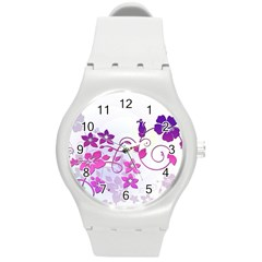 Floral Garden Plastic Sport Watch (Medium)