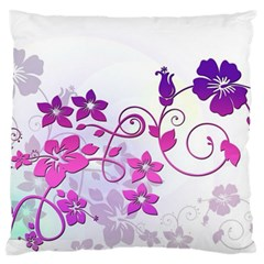 Floral Garden Large Cushion Case (Single Sided)