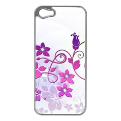 Floral Garden Apple Iphone 5 Case (silver)