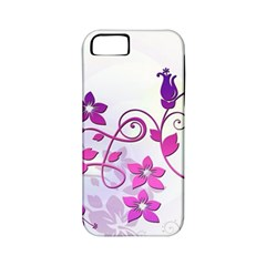 Floral Garden Apple Iphone 5 Classic Hardshell Case (pc+silicone)