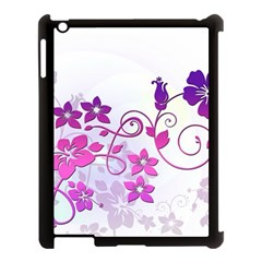 Floral Garden Apple Ipad 3/4 Case (black)