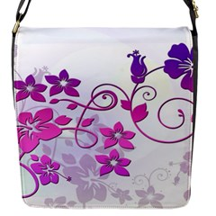 Floral Garden Flap Closure Messenger Bag (small)