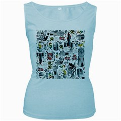 Medieval Mash Up Women s Tank Top (Baby Blue)