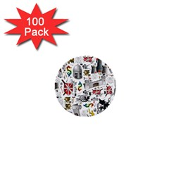 Medieval Mash Up 1  Mini Button (100 pack)