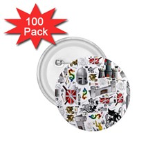 Medieval Mash Up 1.75  Button (100 pack)