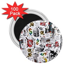 Medieval Mash Up 2.25  Button Magnet (100 pack)