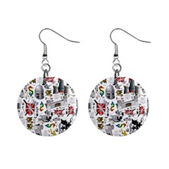 Medieval Mash Up Mini Button Earrings