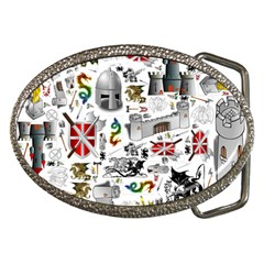 Medieval Mash Up Belt Buckle (oval)