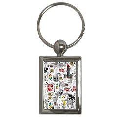 Medieval Mash Up Key Chain (Rectangle)