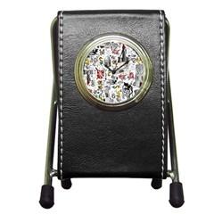 Medieval Mash Up Stationery Holder Clock