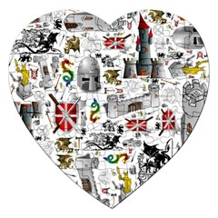 Medieval Mash Up Jigsaw Puzzle (Heart)