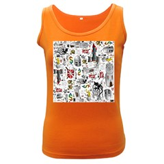 Medieval Mash Up Women s Tank Top (Dark Colored)