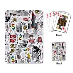 Medieval Mash Up Playing Cards Single Design