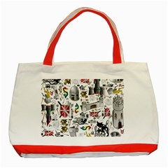 Medieval Mash Up Classic Tote Bag (Red)