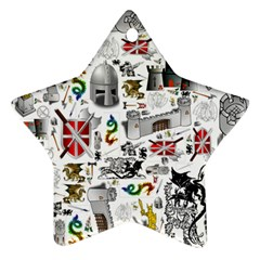 Medieval Mash Up Star Ornament (Two Sides)