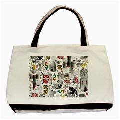 Medieval Mash Up Twin-sided Black Tote Bag