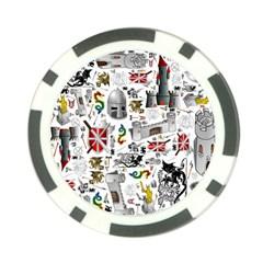 Medieval Mash Up Poker Chip