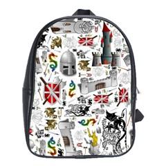 Medieval Mash Up School Bag (large)