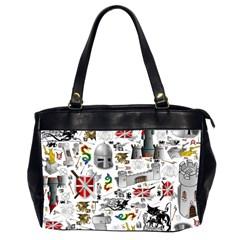 Medieval Mash Up Oversize Office Handbag (Two Sides)