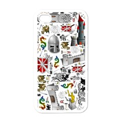Medieval Mash Up Apple Iphone 4 Case (white)