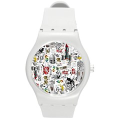 Medieval Mash Up Plastic Sport Watch (medium)