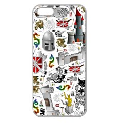 Medieval Mash Up Apple Seamless Iphone 5 Case (clear)