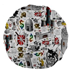Medieval Mash Up 18  Premium Round Cushion