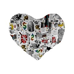 Medieval Mash Up 16  Premium Heart Shape Cushion