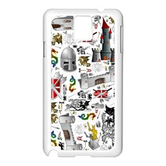 Medieval Mash Up Samsung Galaxy Note 3 N9005 Case (White)