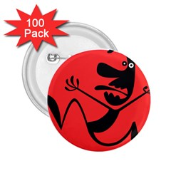 Running Man 2 25  Button (100 Pack)