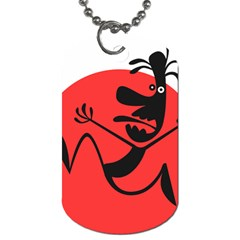 Running Man Dog Tag (Two-sided)