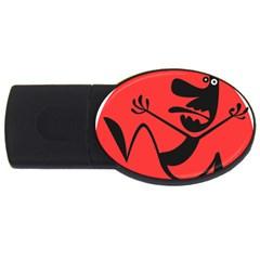 Running Man 2GB USB Flash Drive (Oval)