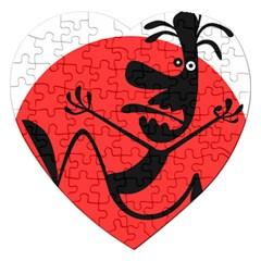 Running Man Jigsaw Puzzle (Heart)