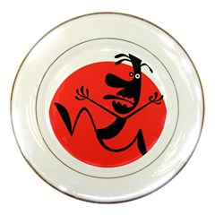 Running Man Porcelain Display Plate