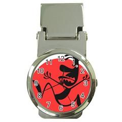Running Man Money Clip with Watch