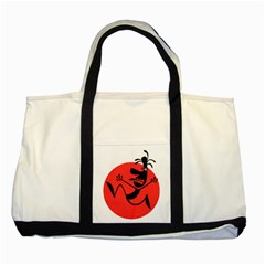 Running Man Two Toned Tote Bag