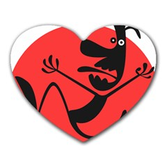 Running Man Mouse Pad (heart)