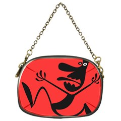 Running Man Chain Purse (two Sided)