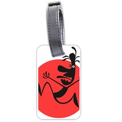 Running Man Luggage Tag (Two Sides)